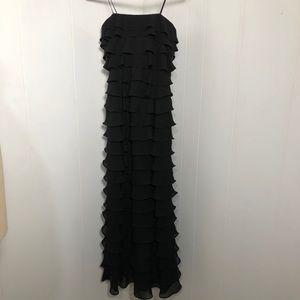 Womens Black Multi Layer Dress. Size 6